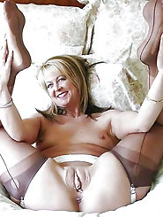 Attractive mature M-I-L-Fs get her pussy drilled