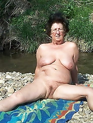 Old milf is covered with jizz