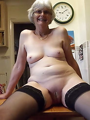 Sexy Grandma Legs, Spread and Ready to be Fuck 14