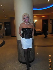 Hot Non-nude Platinum blonde Russian granny