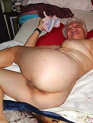 Filthy older grandmother gets undressed