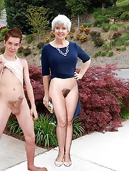 Sexy English mature granny