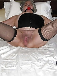 Kinky gagged grannies