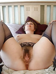 Raunchy experienced momma is masturbating herself
