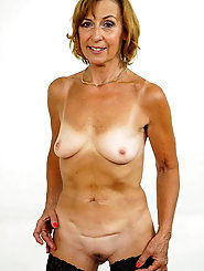 Outstanding aged MILF is playing alone