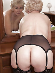 Charming older grandmamas love anal sex