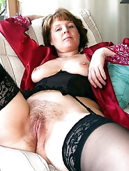 Gorgeous mature bitch is spreading hips